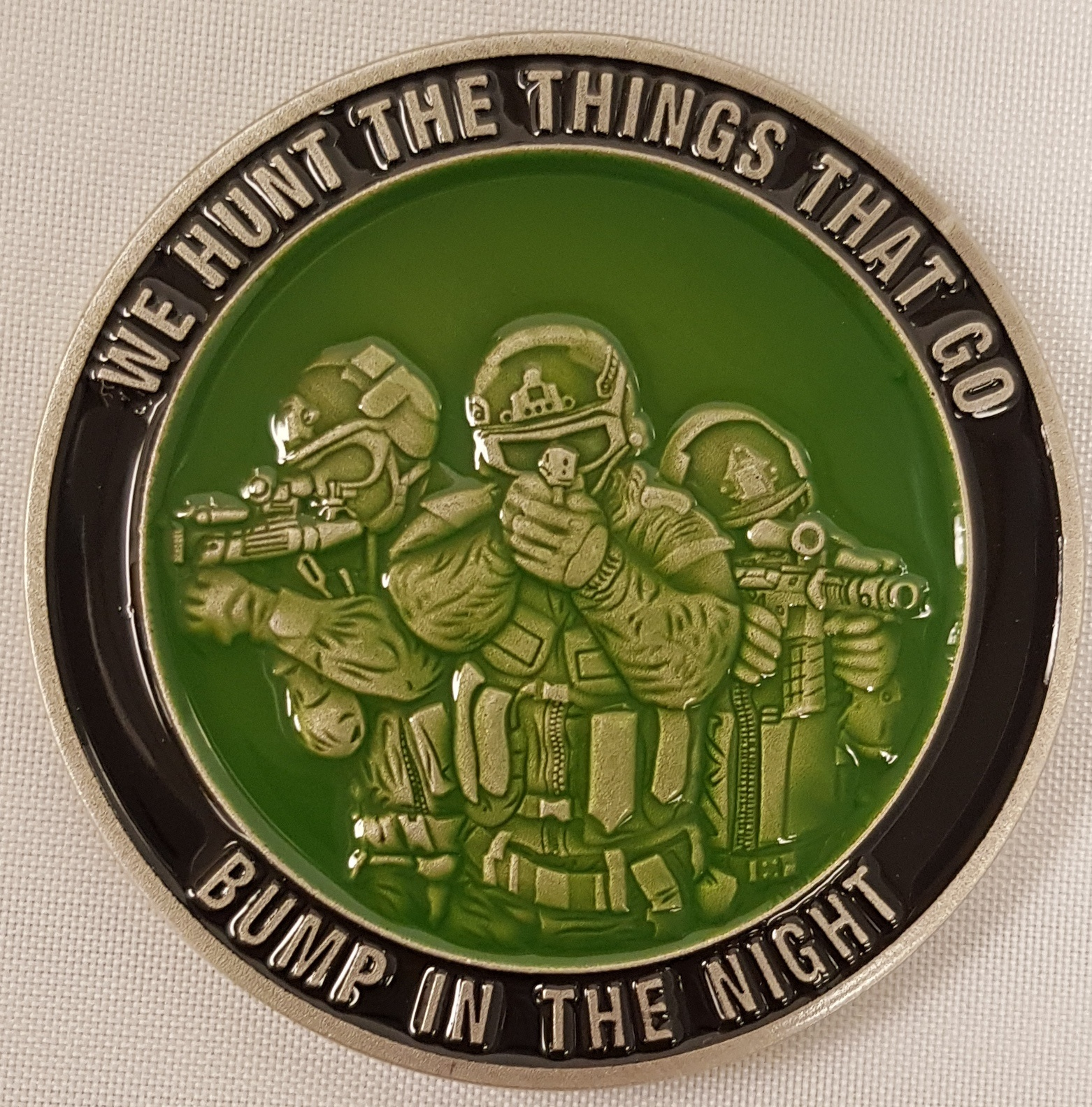 Bump In The Night Challenge Coin